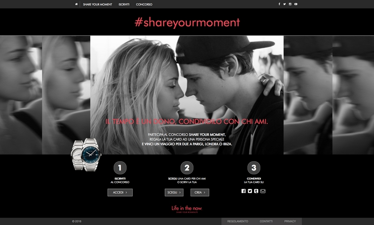 #shareyourmoment homepage